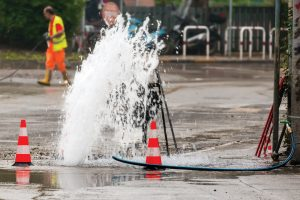 Water main break road work _ PO